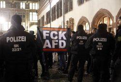 """Ein L-IZ-Foto vom 20. Februar 2017 wird zum Cover der Wochenpublikation """"AfD-Sachsen Aktuell""""? Foto: Alexander Böhm"""