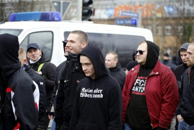 Nationaler Widerstand und FCK Antifa Die Rechte und ihre Feindbilder. Foto: L-IZ.de