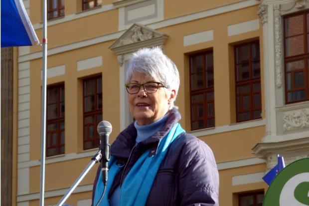 Weitere Ansprache am offenen Mikro. Foto: Lucas Böhme