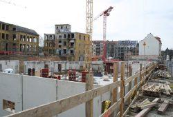 Auch an der Scheffelstraße in Connewitz werden neue Wohungen gebaut. Foto: Ralf Julke