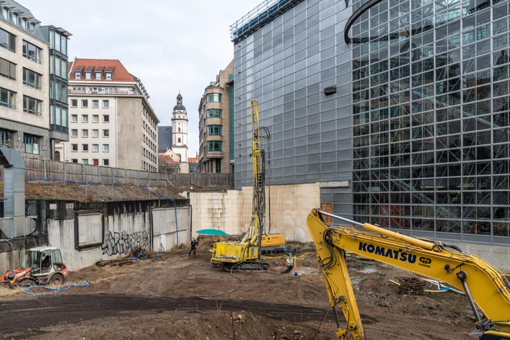 """Es tut sich was im """"Burgplatzloch"""". Foto: Stadt Leipzig"""
