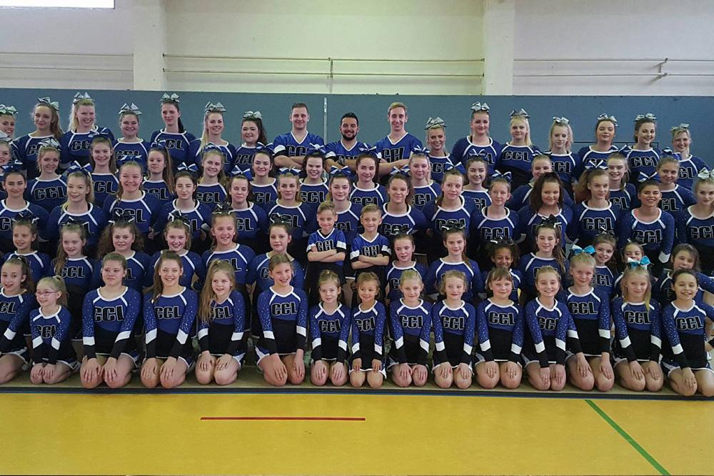 Vier Teams des Cheerleader Club Leipzig e.V. starteten letzten Samstag bei der Regionalmeisterschaft Ost. Foto: Cheerleader Club Leipzig