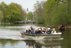 Passagierboot im Leipziger Gewässerknoten. Foto: Ralf Julke