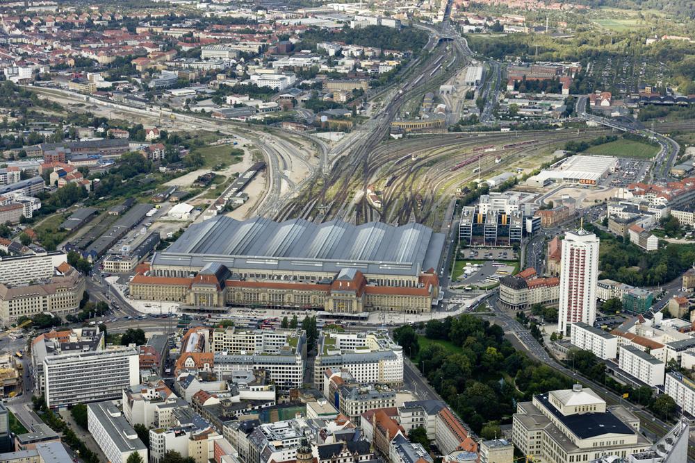Leipzig-Hauptbahnhof mit Gleisvorfeld. Foto: Matthias Weidemann