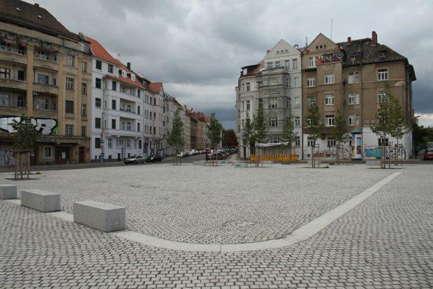 Der Huygensplatz in Möckern. Foto: Ralf Julke