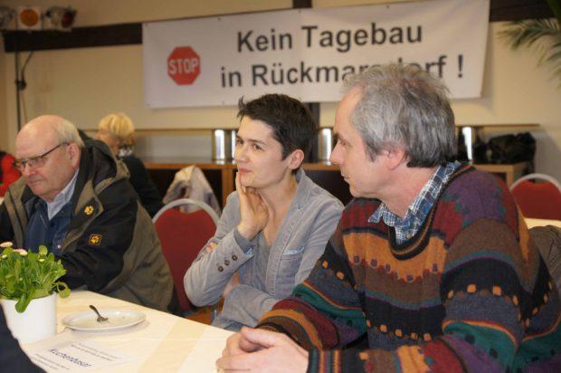 "Auch Daniela Kolbe fand sich am Wochenende in Rückmarsdorf ein. Foto: Bürgerinitiative ""Rückmarsdorf"""