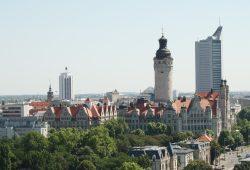 Dienstleistungsstadt Leipzig. Foto: Ralf Julke