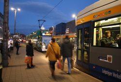 LVB-Haltestelle Goerdelerring. Foto: Ralf Julke