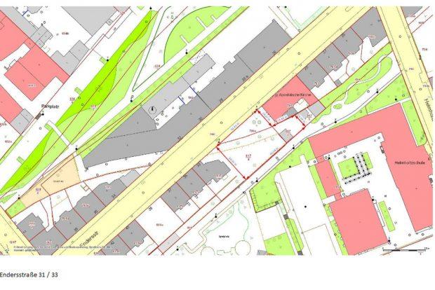 Lageplan für das Angebot in der Endersstraße. Karte: LWB