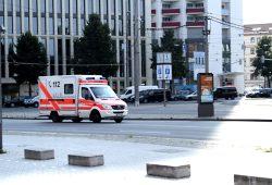 Rettungswagen im Einsatz. Foto: Ralf Julke