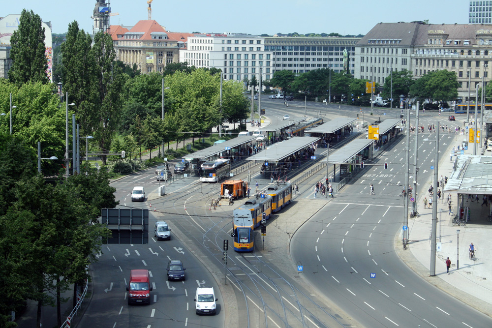 Der Ringabschnitt vorm Hauptbahnhof. Foto: Ralf Julke