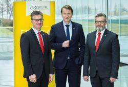 Der VNG-Vorstand: Bodo Rodestock, Ulf Heitmüller und Hans-Joachim Polk (v.l.). Foto: VNG