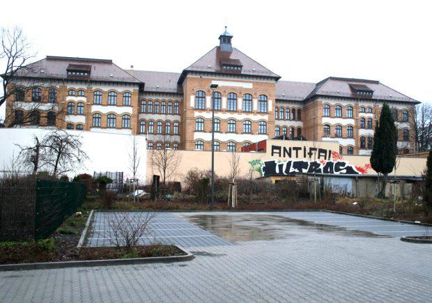 10 Prozent Unterrichtsausfall: die Apollonia-von-Wiedebach-Schule. Foto: Ralf Julke