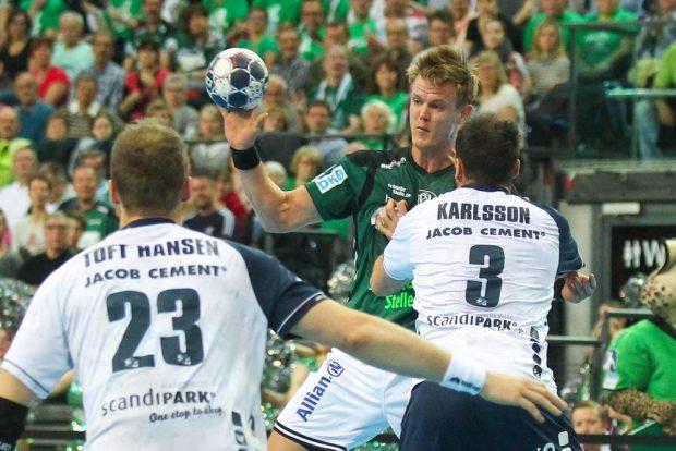 Nationalspieler Niclas Pieczkowski (SC DHfK) blieb gegen Flensburg torlos. Foto: Jan Kaefer