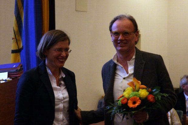 Skadi Jennicke und Alfred Weidinger nach der Wahl des neuen Chefs des Bildermuseums. Foto: L-IZ.de