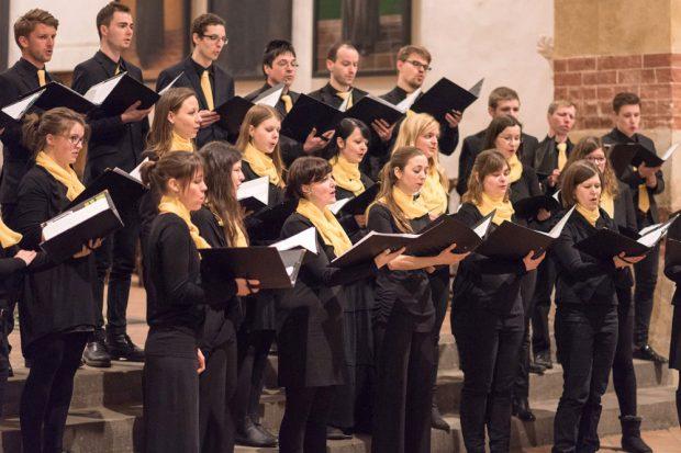 Der Kammerchor der Schola Cantorum Leipzig. Foto: Eric Kemnitz