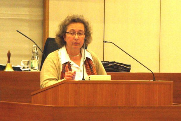 Sabine Heymann (CDU), Aufsichtsratsmitglied bei der LWB während der Debatte. Foto: L-IZ.de