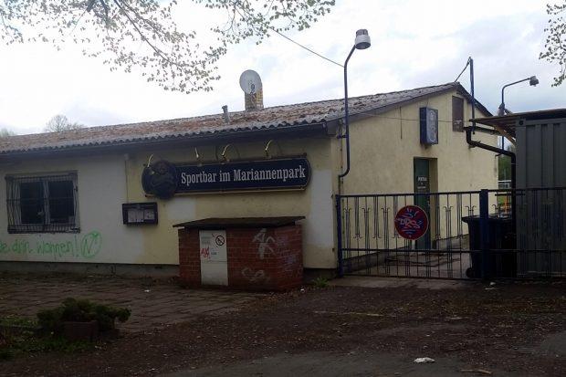 Die Vereinsgaststätte am Mariannenpark. Foto: L-IZ.de