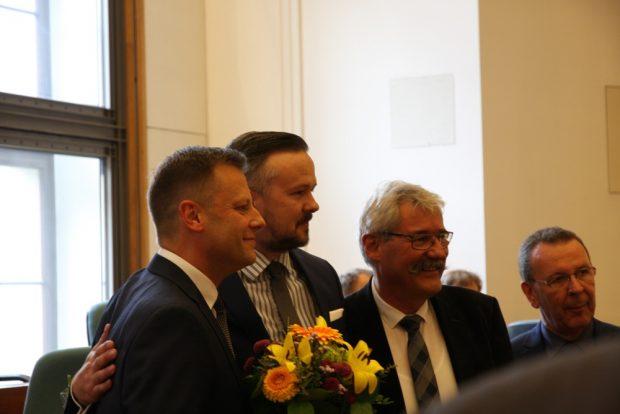 Torsten Bonew und Frank Tornau nach der Wahl. Foto: L-IZ.de