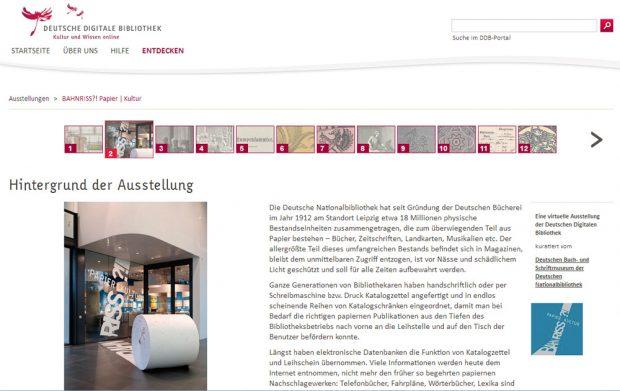 Blick in die virtuelle Ausstellung. Screenshot: L-IZ