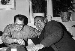 Volker Braun und Peter Gosse. Foto: Christine Zander