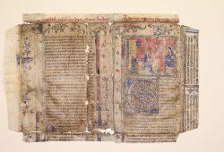 Fragm. lat. 412, Ps. Albertus Magnus: Mariale, Fragment verwendet als Einbandbezug