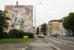 2014 entstandenes Graffiti an der Georg-Schumann-Straße. Foto: Ralf Julke