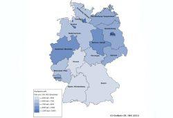 """Häufigkeitszahl nach Bundesländern. Grafik: Bundesinnenministerium/""""Bericht zur Polizeilichen Kriminalstatistik 2016"""""""