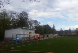 Das von Inter genutzte Häuschen auf dem Sportplatz-Gelände. Foto: Marko Hofmann