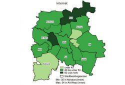 Internetnutzung der über 55-Jährigen in Leipzig. Grafik: Stadt Leipzig, Amt für Statistik und Wahlen