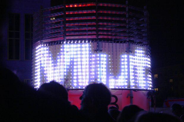 Installation zum Lichtfest 2016. Foto: Ralf Julke