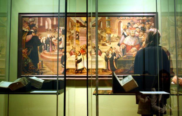Heiße Ware aus dem 16. Jahrhundert: Eine Kabinettausstellung widmet sich der Verlagsstadt Leipzig zur Luther-Zeit. Foto: Ralf Julke