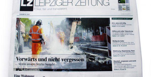 Frisch am Kiosk: Leipziger Zeitung Nr. 42. Foto: L-IZ