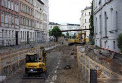 Die Offenlegung des Elstermühlgrabens zwischen Lessing- und Thomasiusstraße. Foto: L-IZ.de