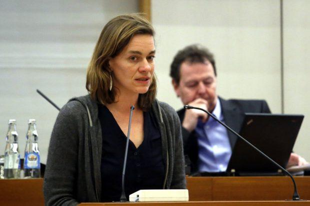 Juliane Nagel in der Leipziger Ratsversammlung. Foto: L-IZ