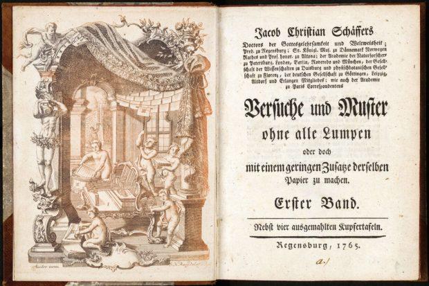 Der natürliche Papiermacher, Regensburg 1765. Foto: Deutsche Nationalbibliothek