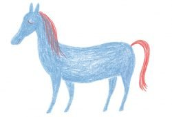 Pferd. Grafik: Miriam Zedelius