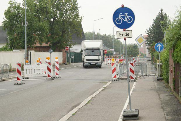 Radweg-Ende. Foto: Ralf Julke