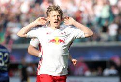 Mit einem Distanzschuss erhöhte Emil Forsberg auf 2:0. Foto: GEPA pictures/Roger Petzsche
