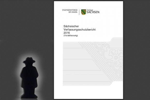 Sächsischer Verfassungsschutzbericht 2016. Montage: L-IZ