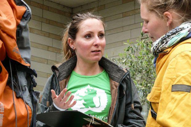 Anja Werner für mehr Grün in der Stadt. Foto: Ökolöwe
