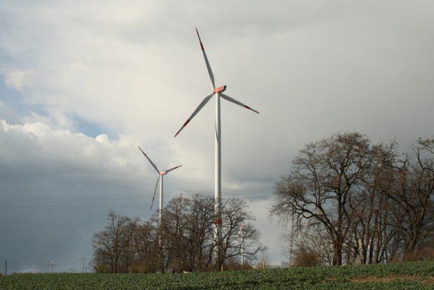 Windräder im Leipziger Norden. Foto: Ralf Julke