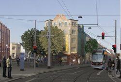 Visualisierung Leutzsch Arkaden – Haltestelle Pfingstweide. Foto: Leipziger Gruppe