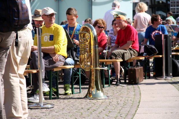 Auf dem Augustusplatz vor Luther