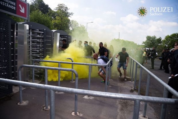 Training der Bereitschaftspolizei. Foto: Polizei Sachsen