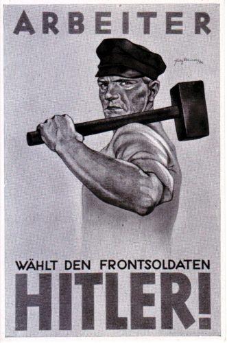Der Schatten der 30er Jahre ist schon sichtbar. Wahlwerbung der NSDAP in den späten 20er Jahren. Quelle: Cigarettenbilder-Sammlung, Privat