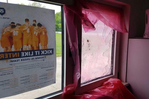 Die Schäden beim FC Inter am Sonntag. Foto: L-IZ.de