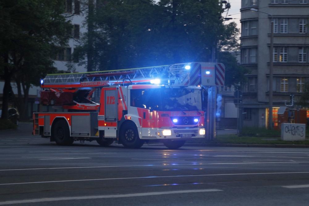 Feuerwehreinsatz in Leipzig. Foto: Alexander Böhm