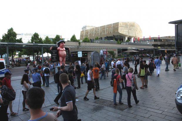 Gewimmel auf dem Augustusplatz