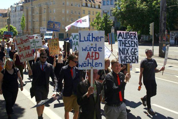 Luther würde AfD wählen. Foto: Alexander Böhm